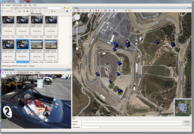 GPS Data can be very helpful in organizing and sharing images. I used a GP-1 to get location information during a day at the track at Laguna Seca and could instantly plot them using the free download geosetter.de
