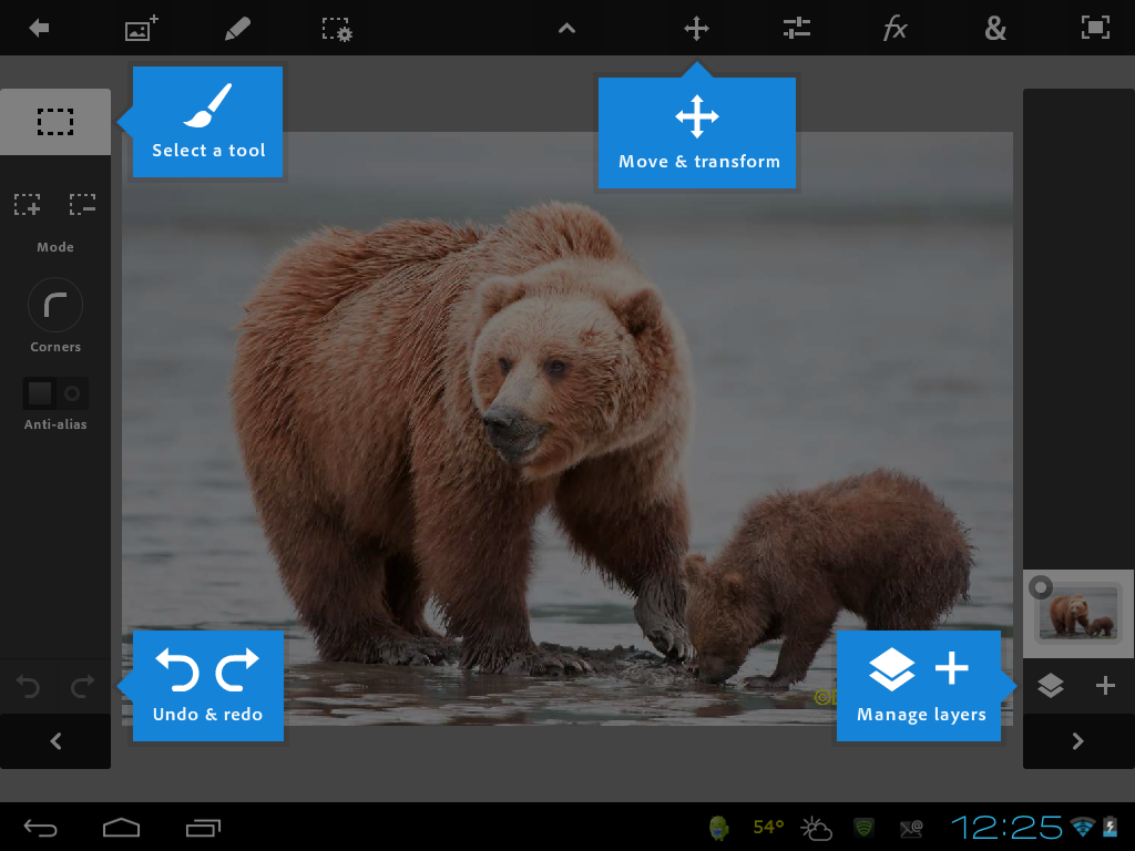 Photoshop Touch: Android finally gets some Adobe love